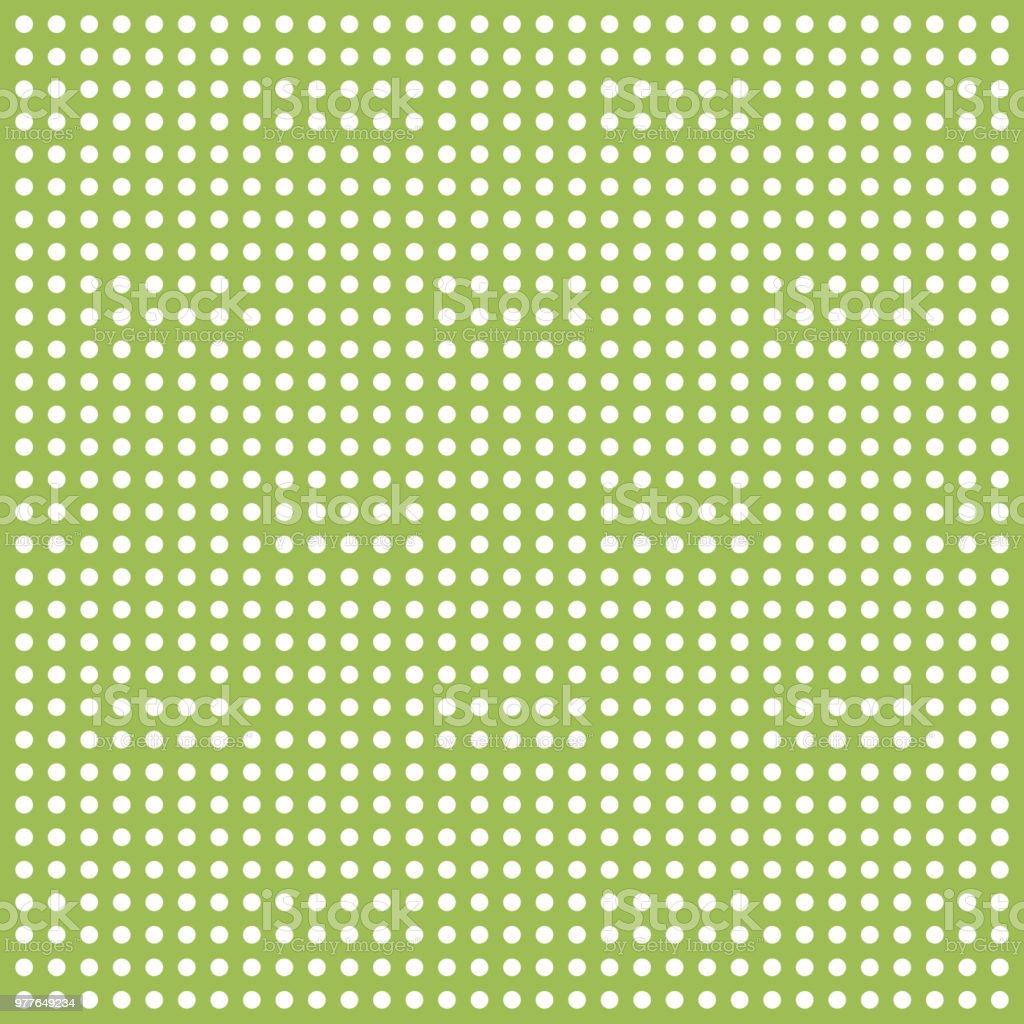 Green polka dot background vector art illustration