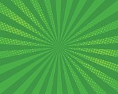 Green pop art comic background, vector illustration.