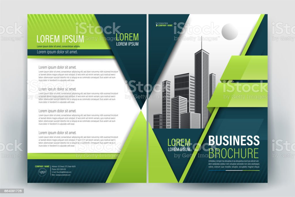 Green Poster Brochure Flyer design Layout background vector template A4 royalty-free green poster brochure flyer design layout background vector template a4 stock vector art & more images of advertisement