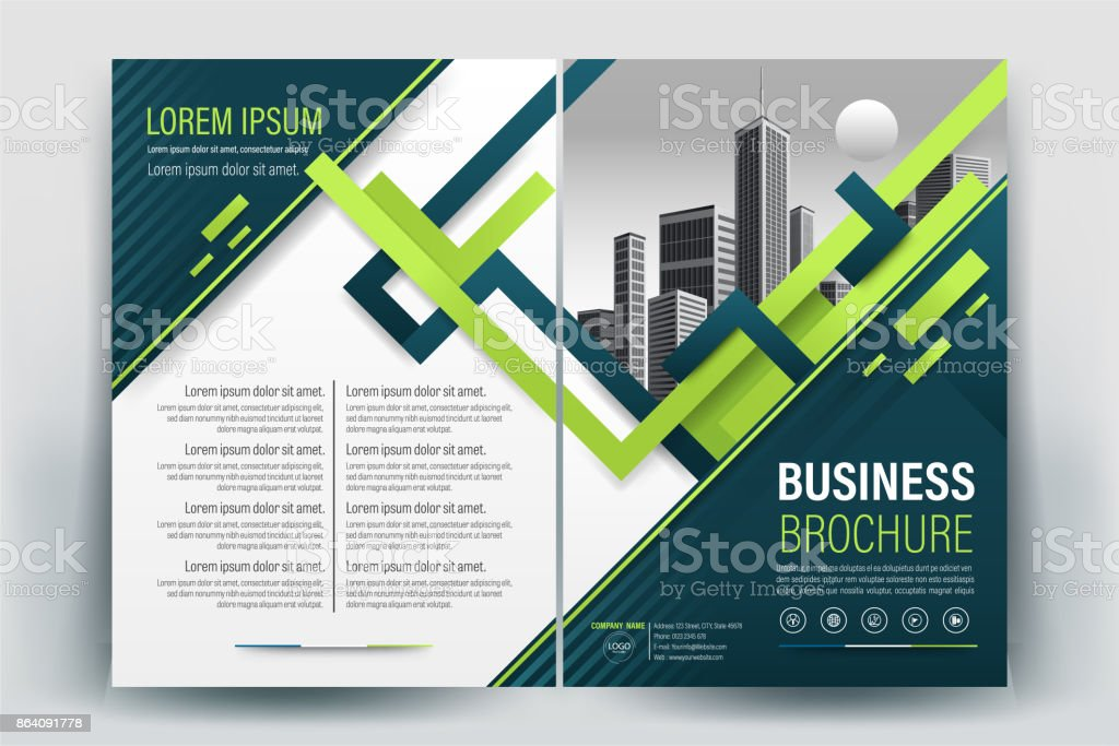 Yeşil Afiş Broşür Ve Ilan Tasarım Düzeni Arka Plan Vektör şablonu A4