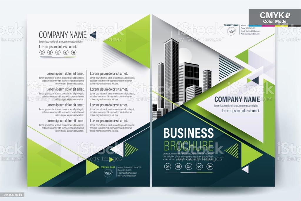 green poster brochure flyer design layout background vector template