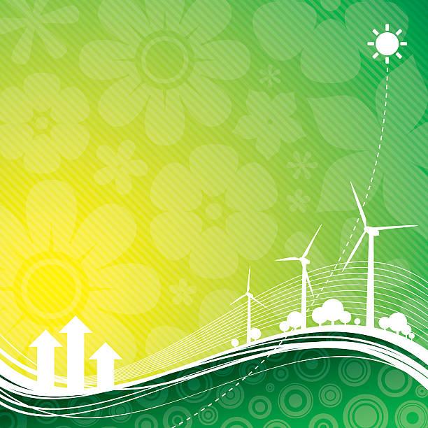 ilustrações de stock, clip art, desenhos animados e ícones de fundo verde de - wireframe solar power