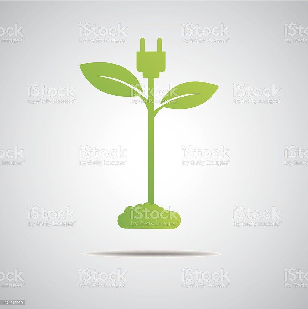 green power eco vector art illustration