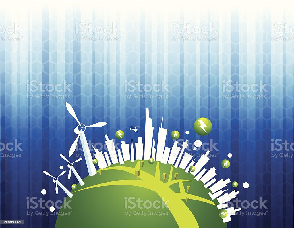 Green Power in city royalty-free green power in city stock vector art & more images of alternative energy