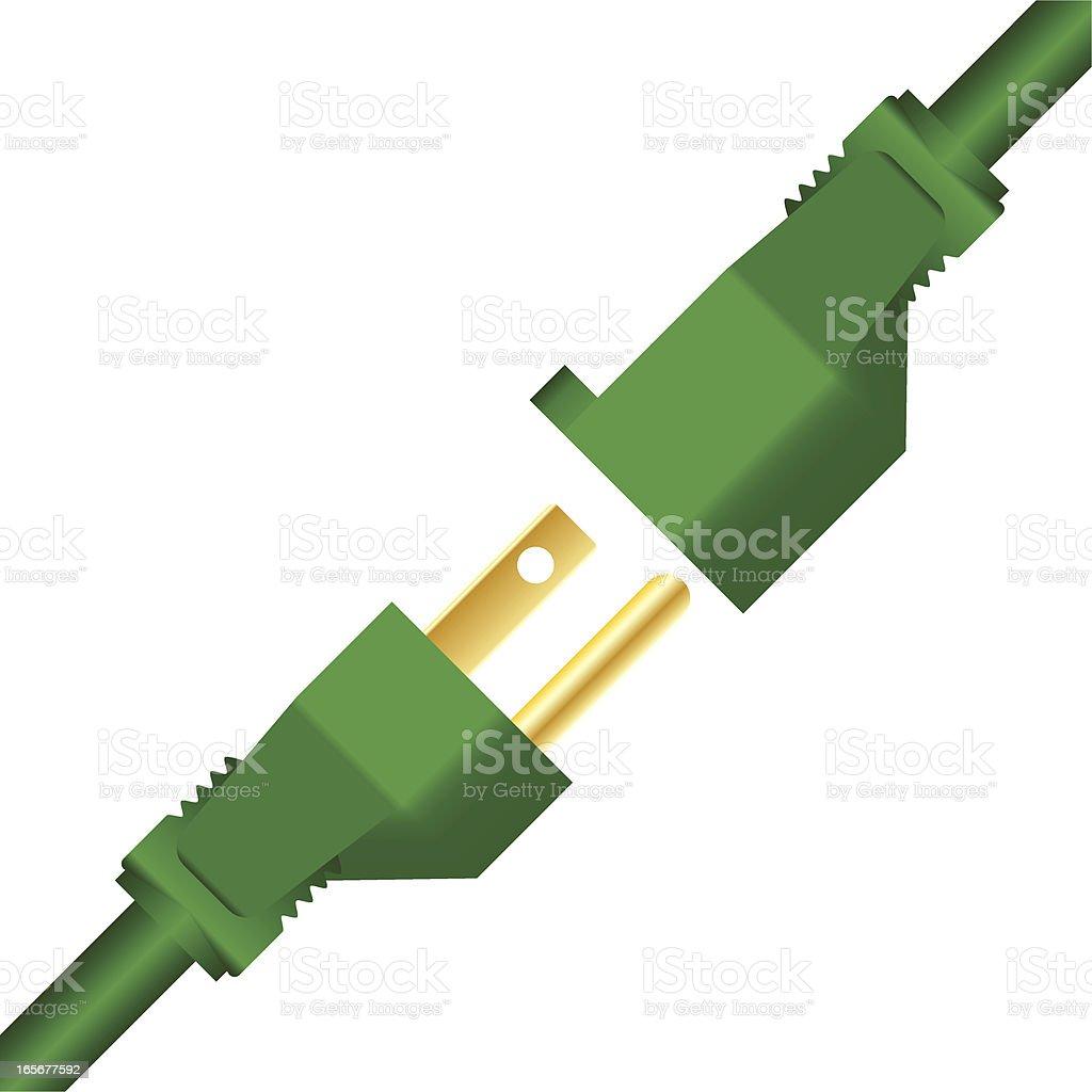 Green Power Plugs royalty-free stock vector art