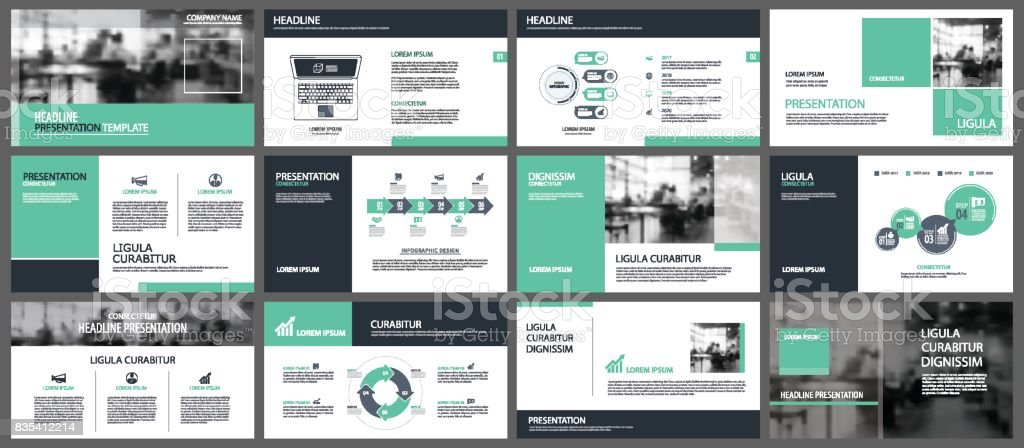 Green presentation templates and infographics elements background. Use for business annual report, flyer, corporate marketing, leaflet, advertising, brochure, modern style.