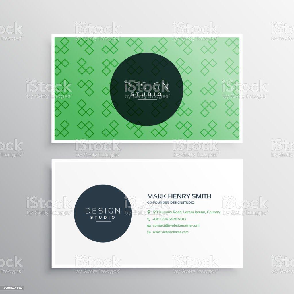 Grüne Professionelle Elegante Visitenkarten Design Mit