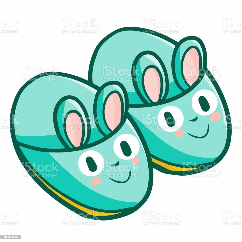 Green Rabbit Baby Shoes Stock Illustration Download Image Now Istock