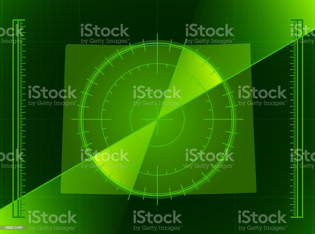 Green Radar Screen and Wyoming State Map royalty-free stock vector art