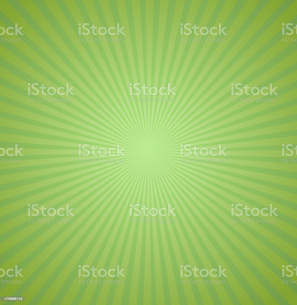 Green rays background. Burst Vector illustration vector art illustration