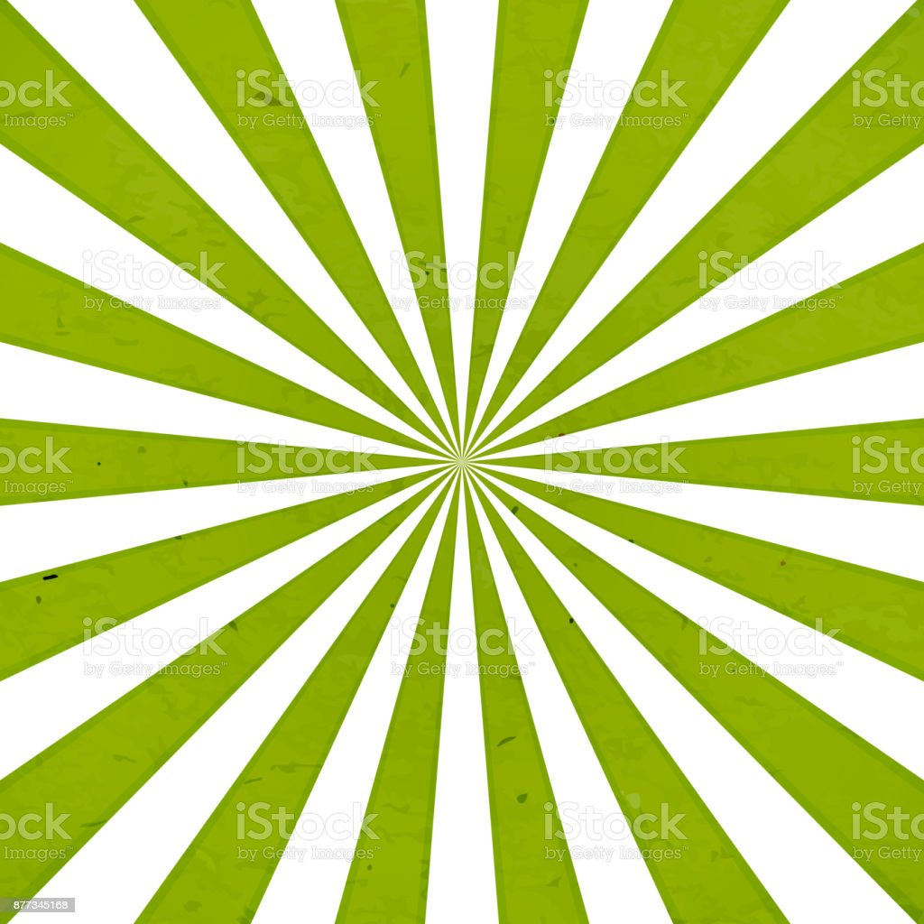 Green rays background vector art illustration