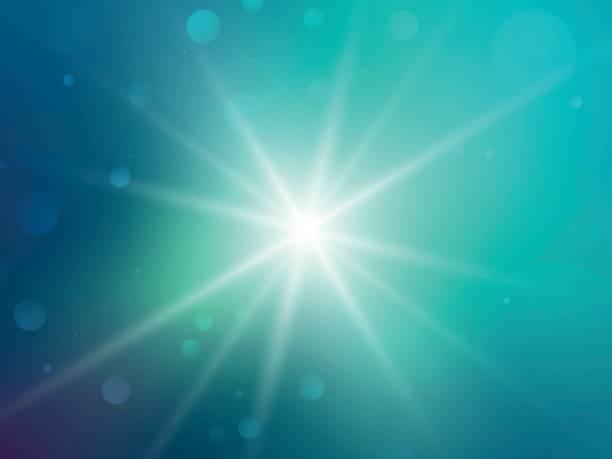 green rays star bokeh background vector art illustration