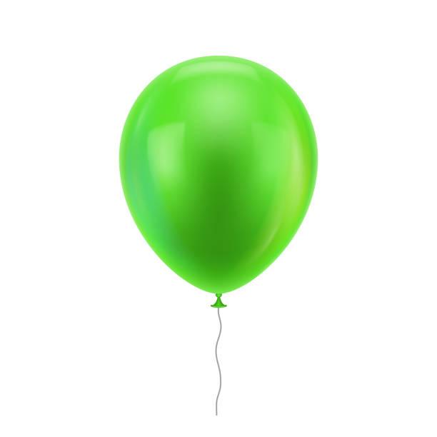 green realistic balloon - anniversary clipart stock illustrations