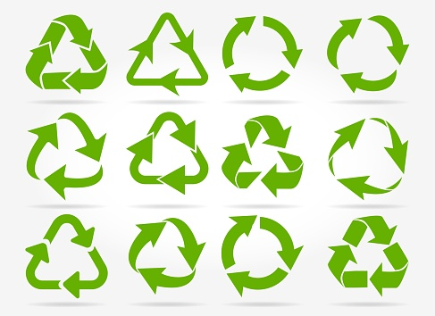 Green recycle arrow icons