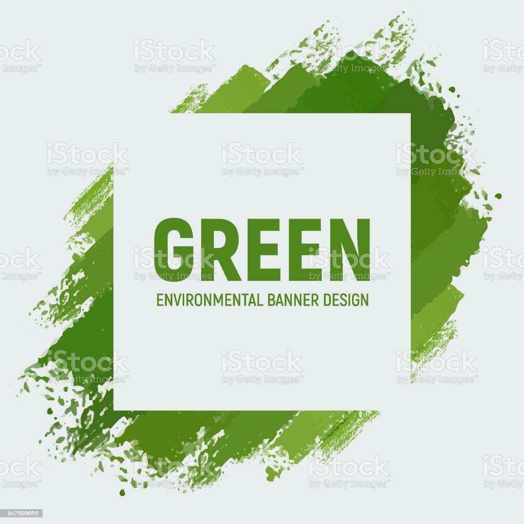 Yeşil Geri Dönüşüm Afiş Stok Vektör Sanatı Boyanin Daha Fazla