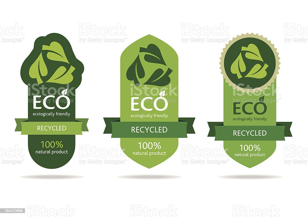 Green recycle label advertisement royalty-free green recycle label advertisement stock vector art & more images of backgrounds