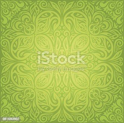 ᐈ Imagen De Verde Retro Vintage Wallpaper Vector Mandala