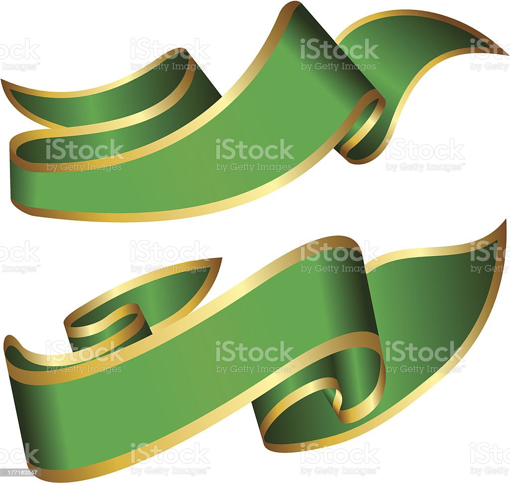 Green ribbons royalty-free stock vector art