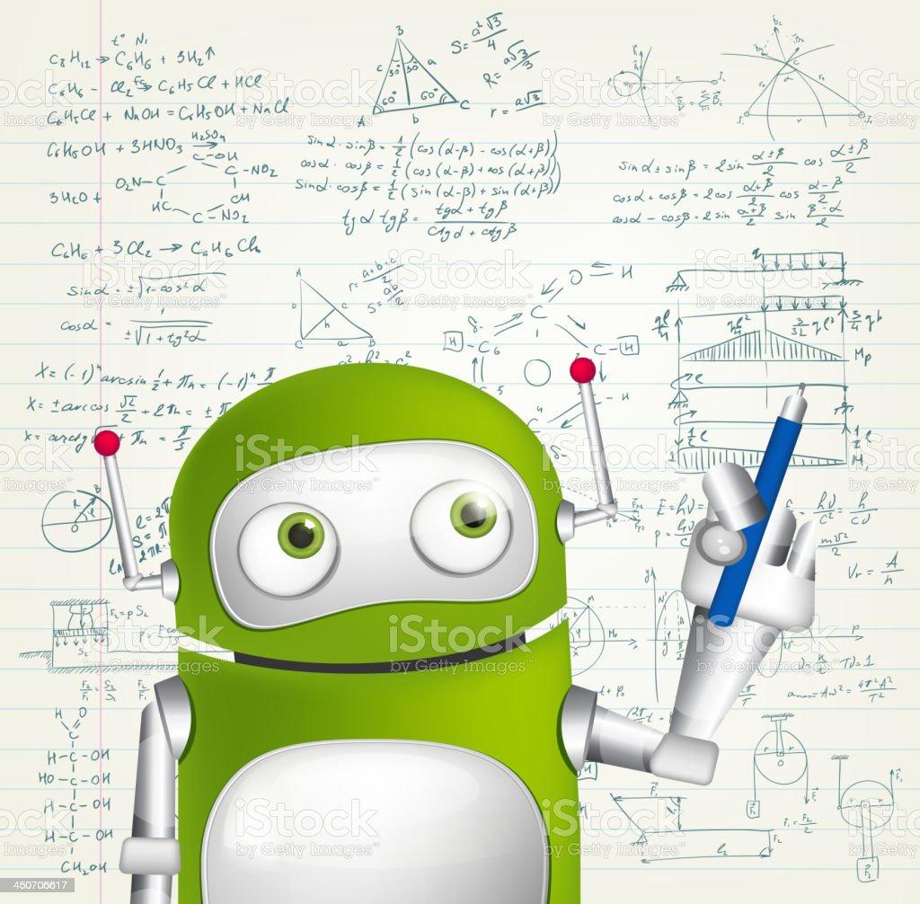 Green Robot royalty-free stock vector art