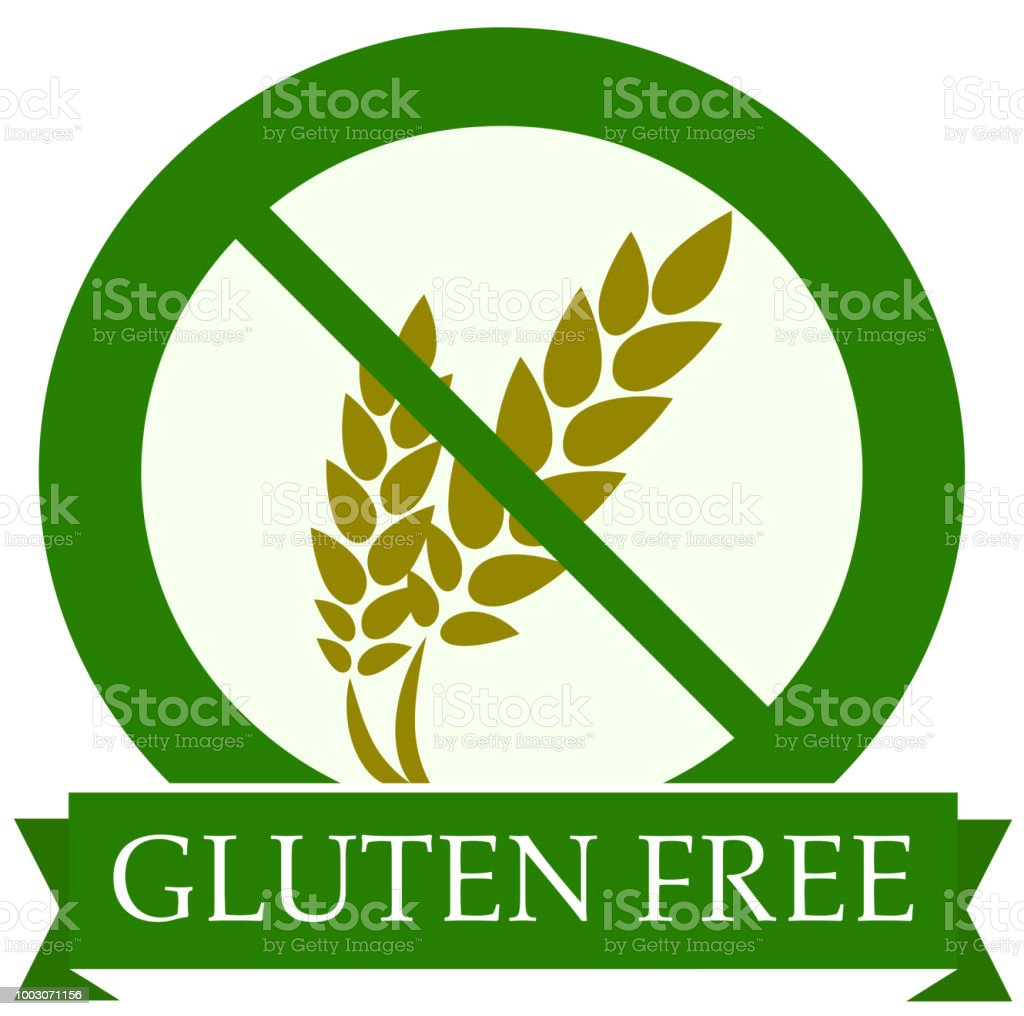 green round gluten free icon vector illustration vector art illustration