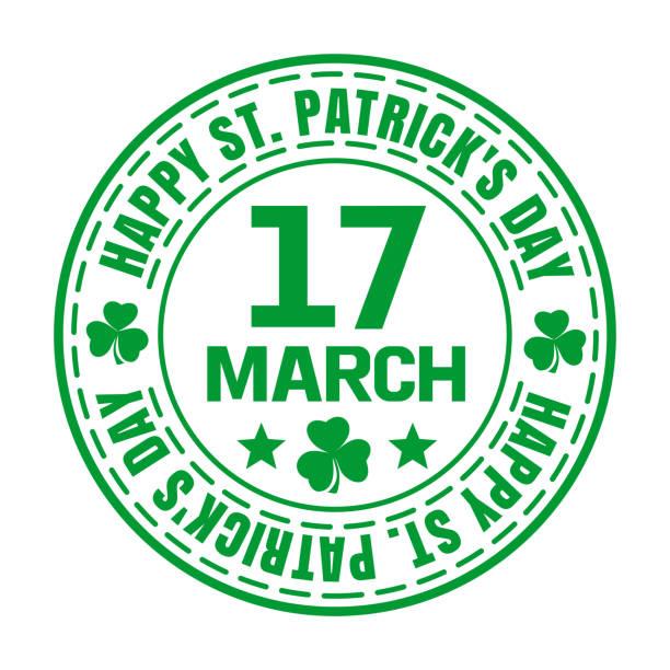 Grünen Stempel für den St. Patricks Day – Vektorgrafik