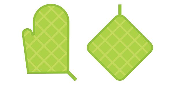 Green Safety Kitchen Potholder