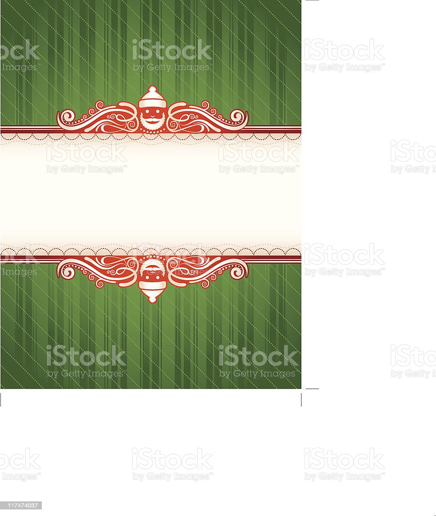 Green Santa Frame Stock Vector Art & More Images of Backgrounds ...