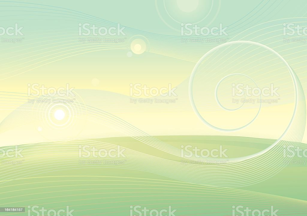 Green Scape Background royalty-free stock vector art