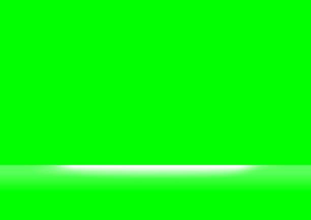 stockillustraties, clipart, cartoons en iconen met groen schermkleuren en wit licht schijnen voor achtergrond, achtergrond groen scherm en spotlight zacht, groen schermruimte voor achtergrond - green screen