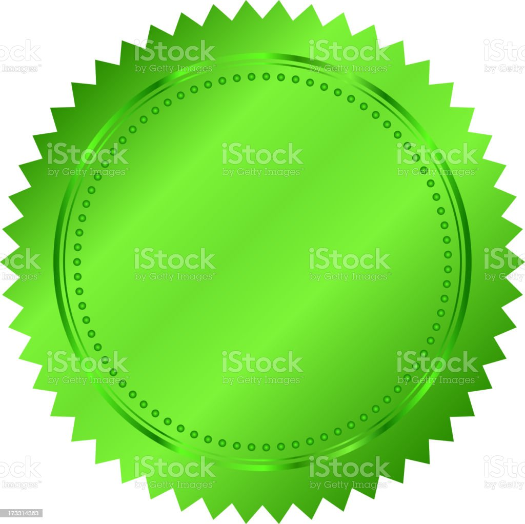green seal royalty-free green seal stock vector art & more images of cut out