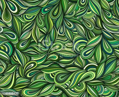istock Green seamless doodle 1165898420