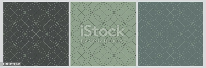 istock Green Seamless pattern abstract star christmas background with elegant lines 1183129923