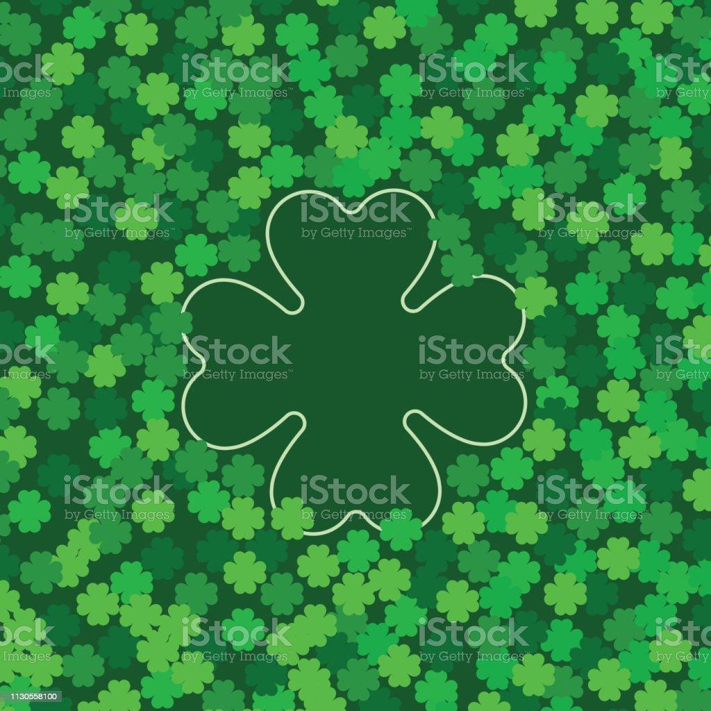 クローバーの緑のシームレスなパターン聖パトリックの日のシャムロック