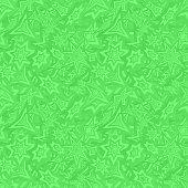 Green seamless star pattern background