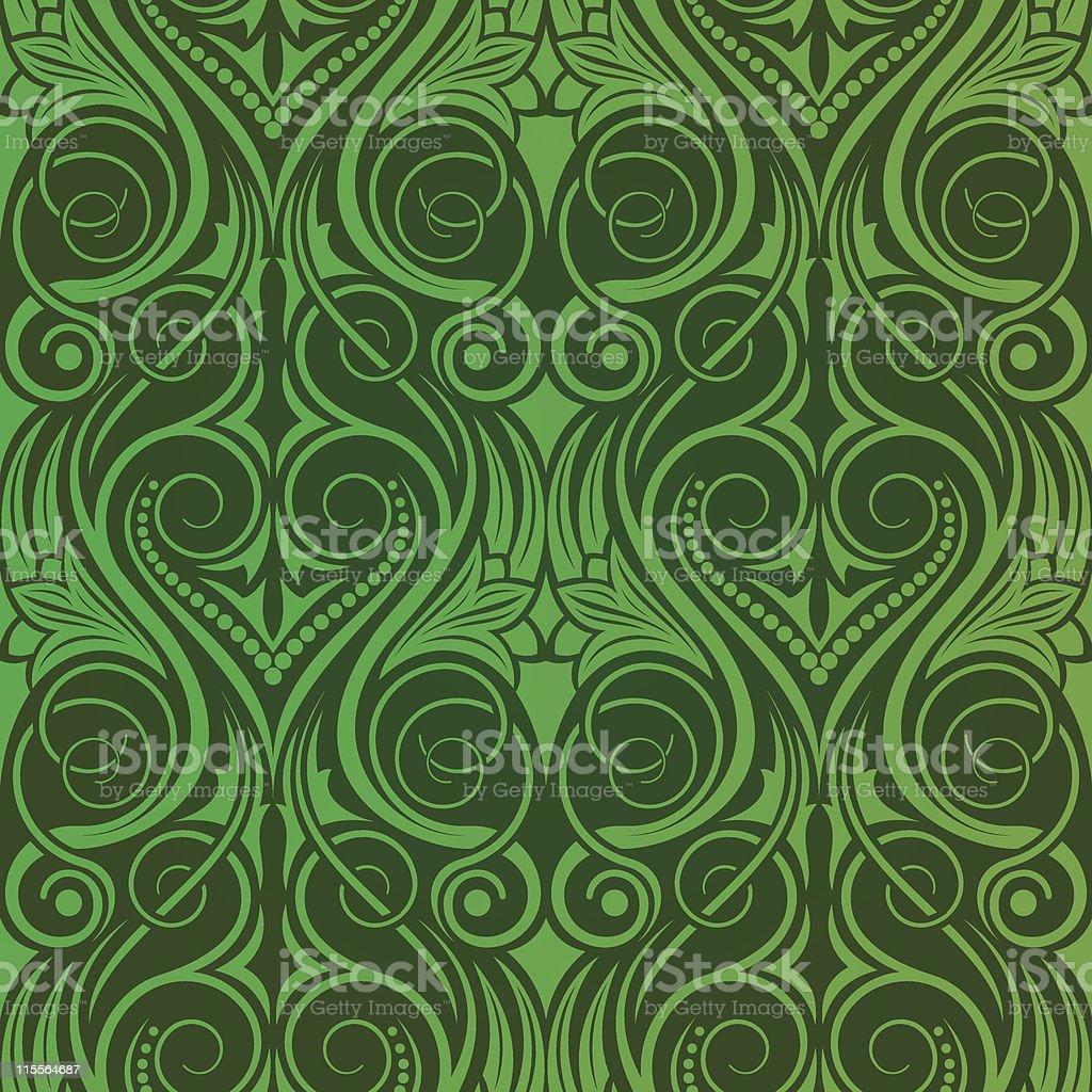 Green seamless wallpaper royalty-free stock vector art