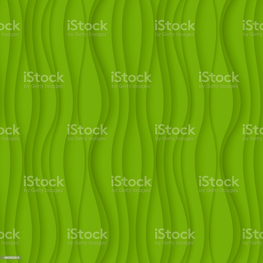 Green seamless Wavy background texture. vector art illustration