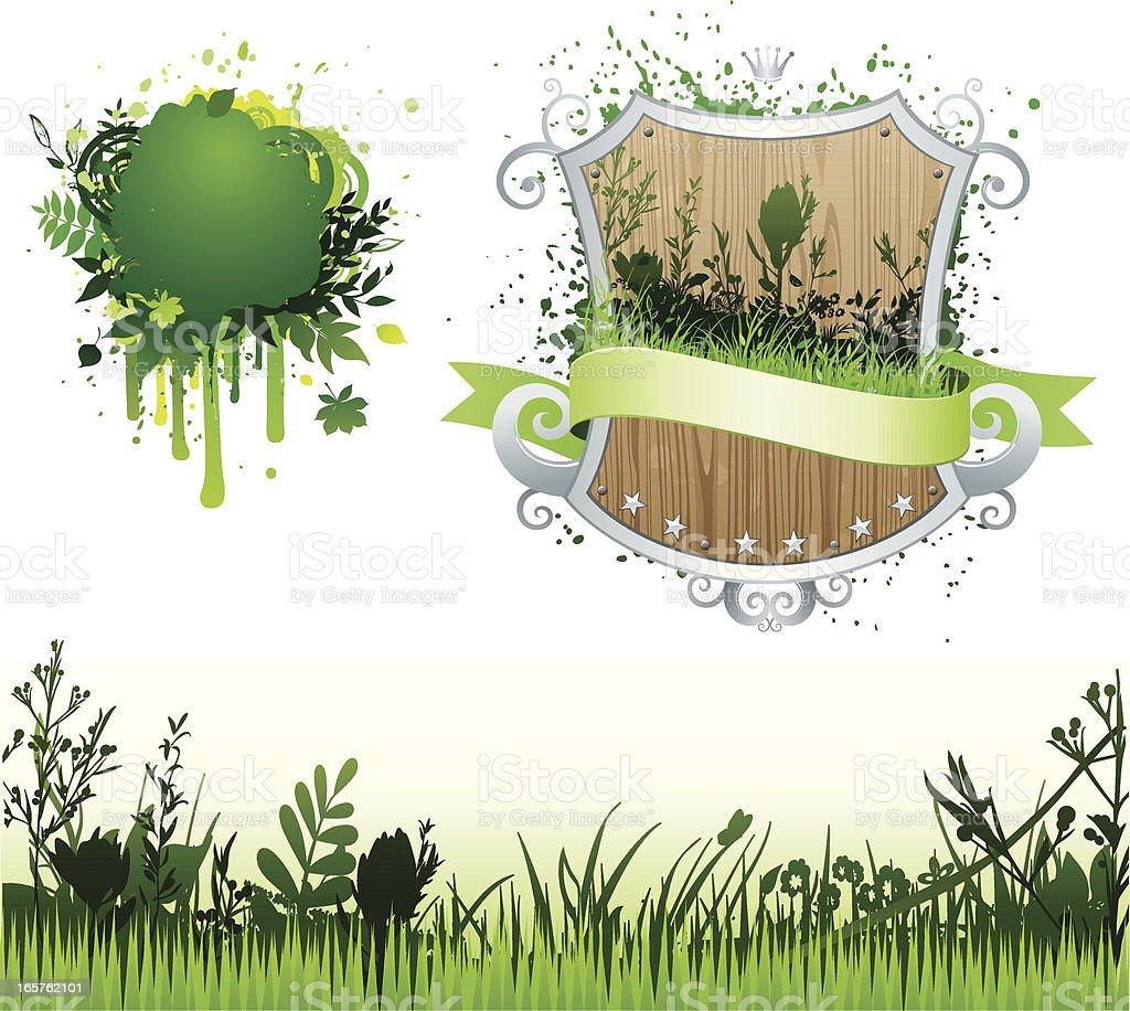 Green set royalty-free stock vector art