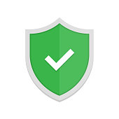 Green shield and check mark