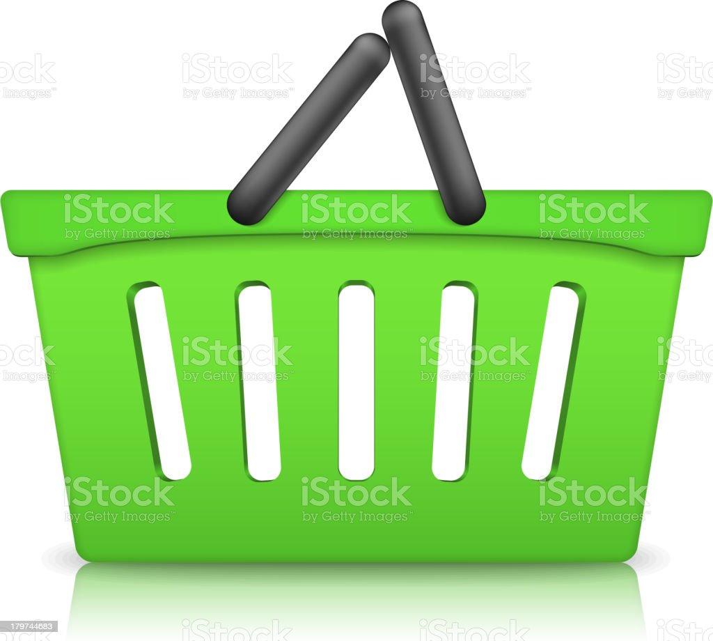Green Shopping Basket royalty-free stock vector art