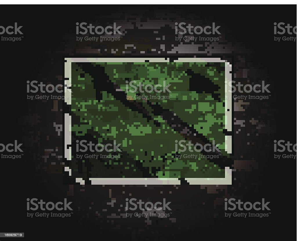 Green Sign on Brick Wall royalty-free stock vector art