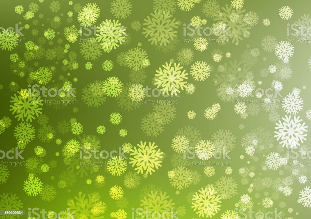 Fond De Flocons De Neige Vert Hiver Et Noel Concept Design Pour