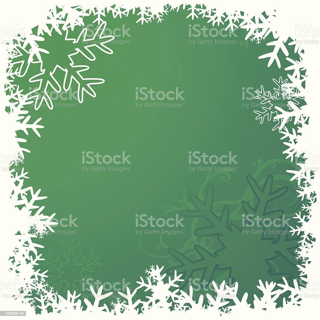 Green snowframe royalty-free stock vector art