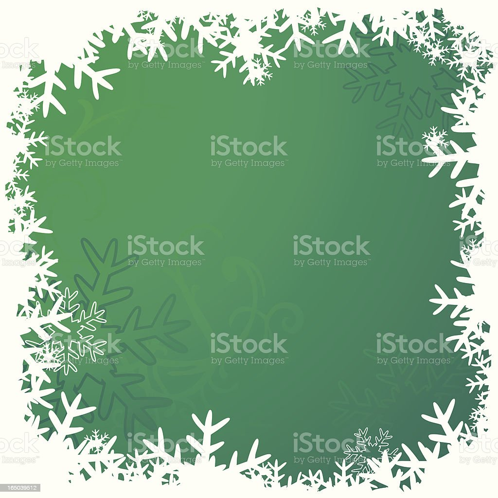 Green snowframe royalty-free stock vector art