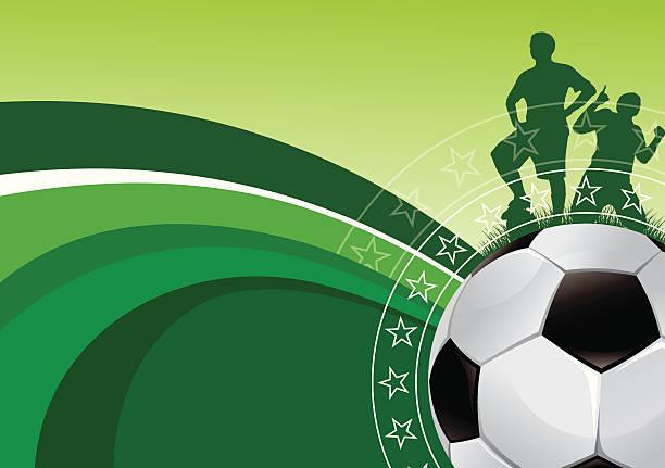 Green soccer background vector art illustration