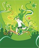 Green soccer theme