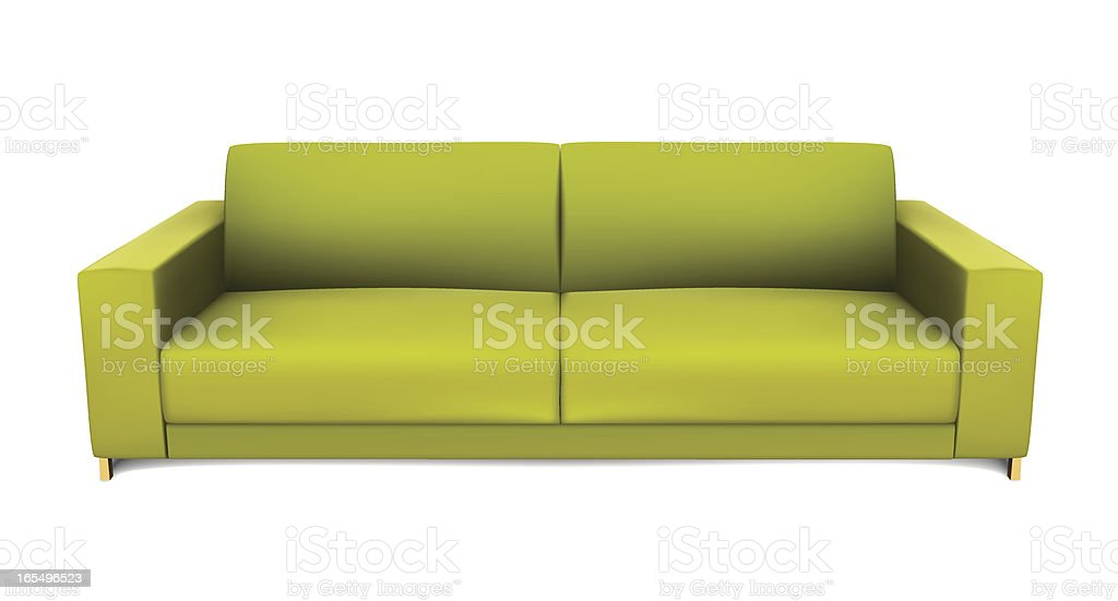 Green Sofa royalty-free stock vector art
