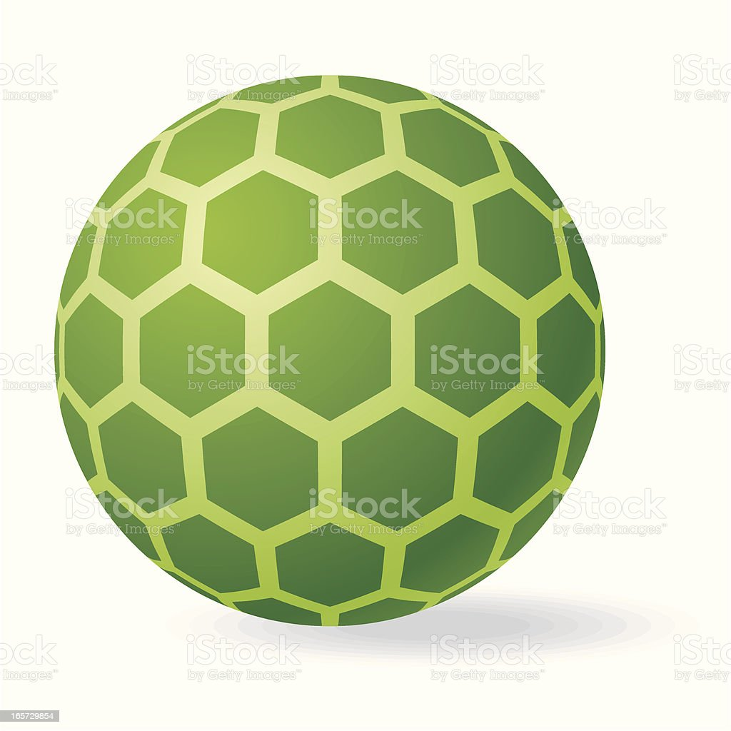 green sphere honeycomb royalty-free stock vector art