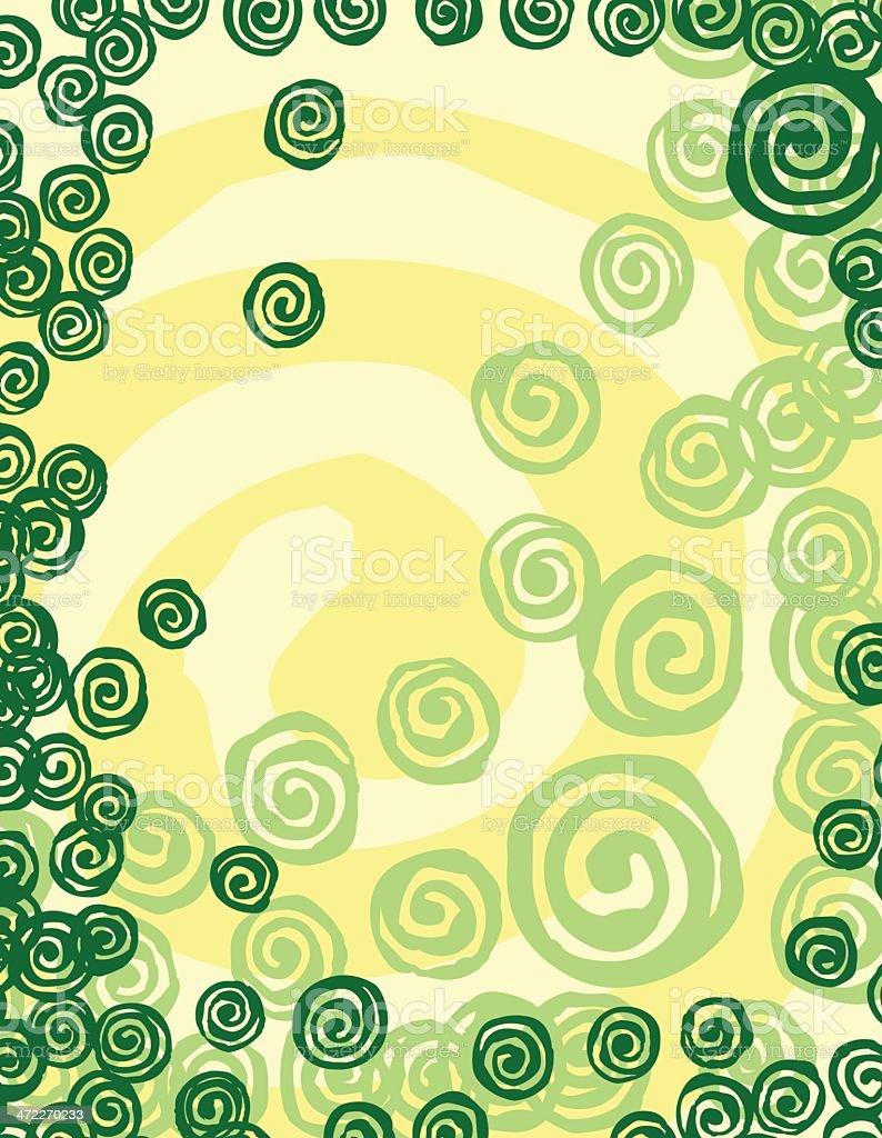 Green Spiral Border royalty-free stock vector art