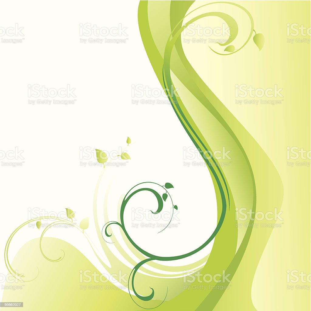 Green spring background. royalty-free stock vector art