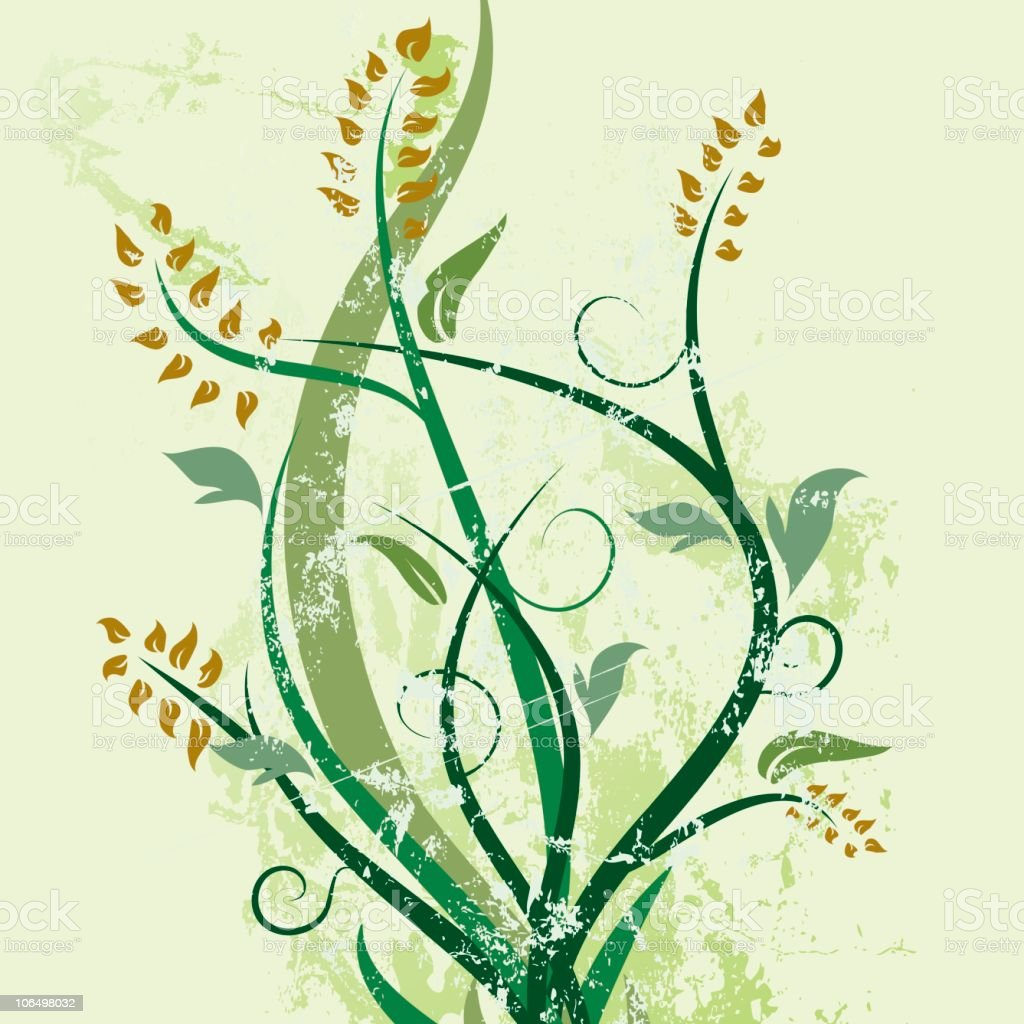 Green Spring Embellishment royalty-free stock vector art